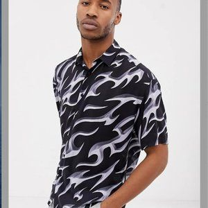 ASOS Oversized Fit Shirt 90s Style Print 2XL